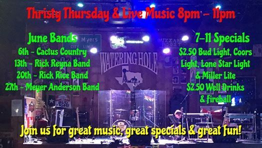 Thirsty Thursday June Bands at Watering Hole Saloon | New