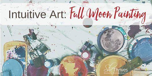 Intuitve Art- Full Moon Painting