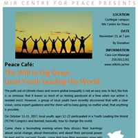 YLTW Community Forum and Peace Cafe