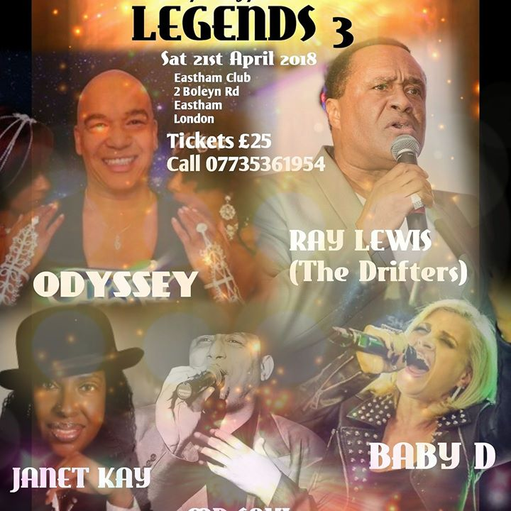 LEGENDS 3....THE ULTIMATE PARTY at East Ham Working Man\'s Club, London