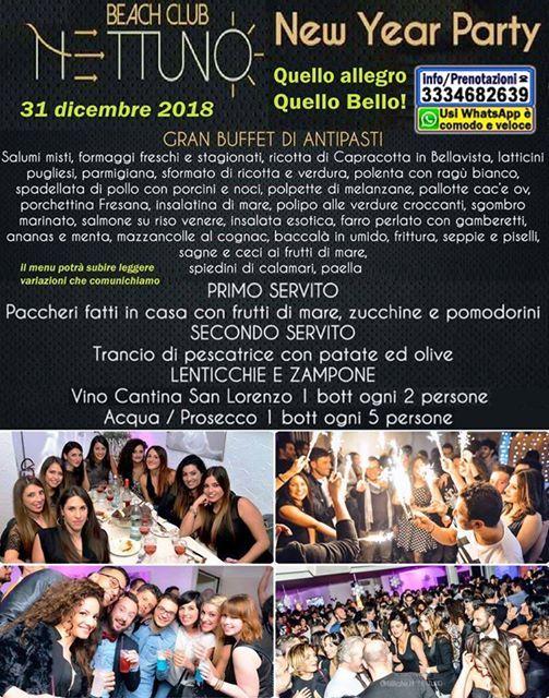 Capodanno 2019 a Nettuno Beach CLUB di Pescara Locale migliore veranda sul MARE con Musica Disco Spettacoli Cenone di qualit Pista da BALLO
