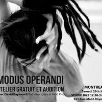 Modus Operandi Atelier et Audition