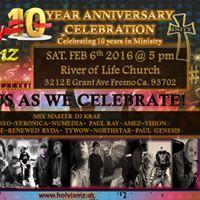 HOLY JAMZ 10yr ANNIVERSARY CELEBRATION