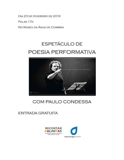 Espetculo Poesia Performativa com Paulo Condessa