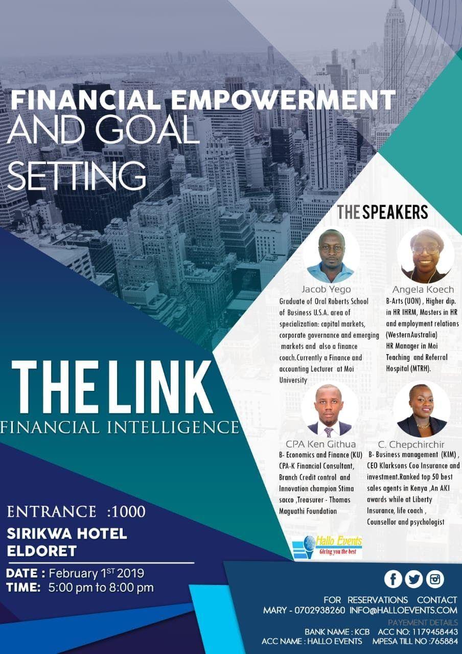 The LINK, Financial Intelligence at Sirikwa Hotel, Eldoret