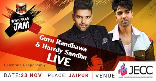 Guru Randhawa & Harrdy Sandhu Performing Live at JECC
