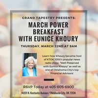 March Power Breakfast with Eunice Khoury