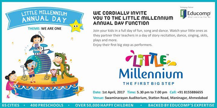 Little Millennium Maninagar Annual Day At Swaminarayan