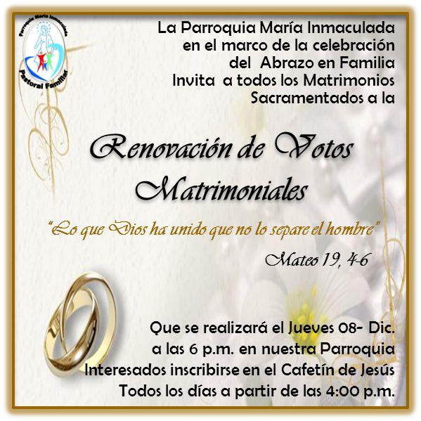 Renovación De Votos Matrimoniales At Parroquia Maria