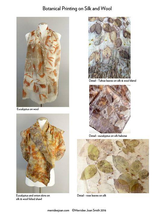 Merridee Joan Smith Eco-Printing Workshop Botanical Printing on Silk and Wool