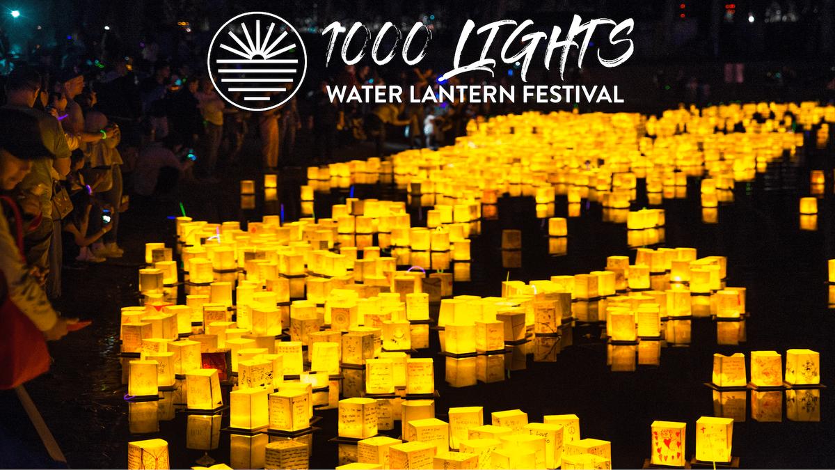 Baltimore MD  1000 Lights Water Lantern Festival 2019