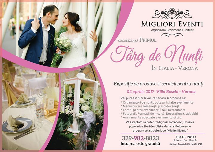 Târg De Nunți Migliori Eventi Verona Marinela Hodor At Villa