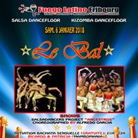 Fuego Latino &quot Le Bal &quot Sam. 06 Janv 2018  Salle Grenette