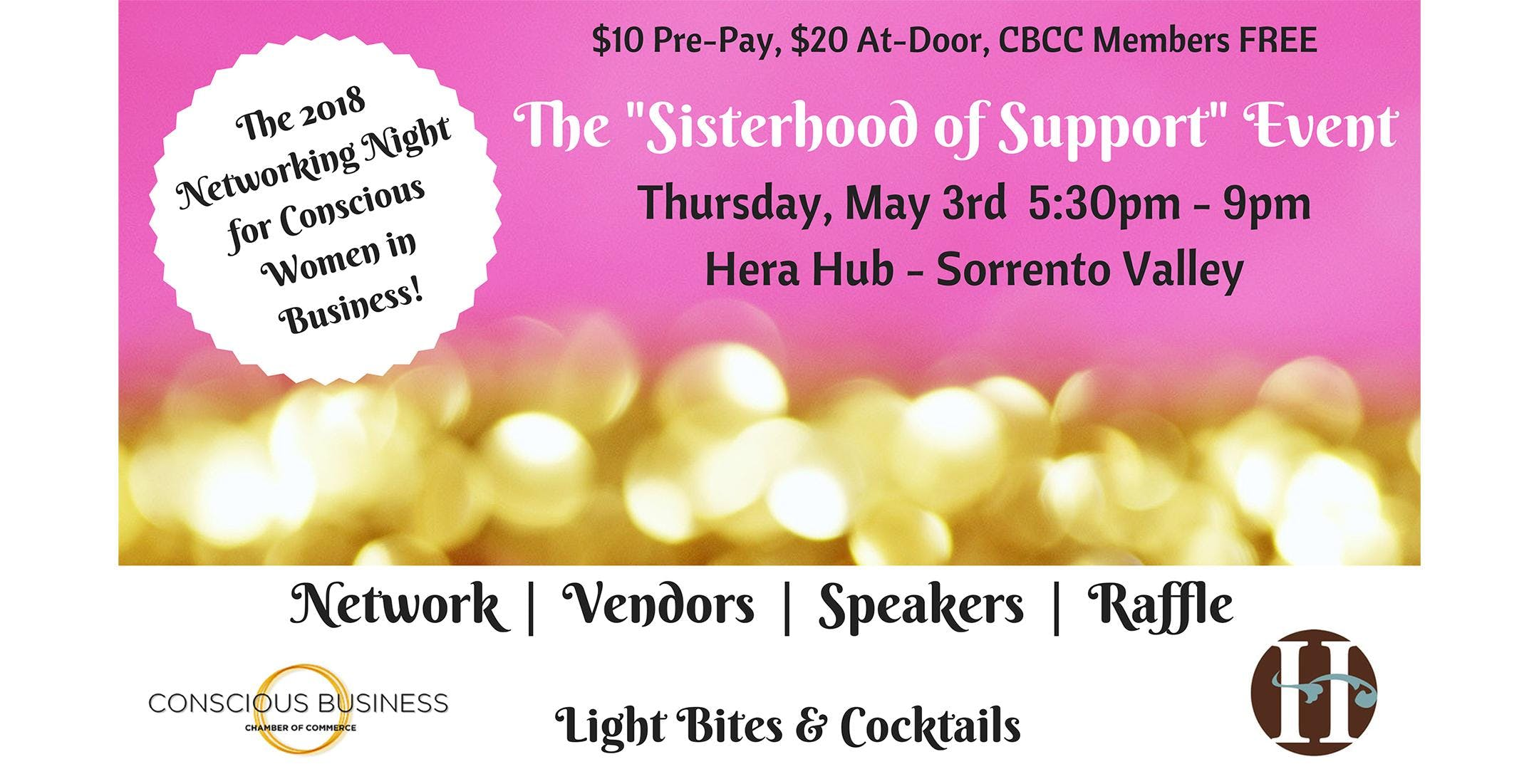 2018 networking night for conscious women in business featuring raffle speakers business expo