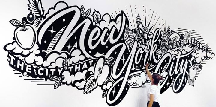 Lettering Mural Design With Gemma OBrien At TDC New York