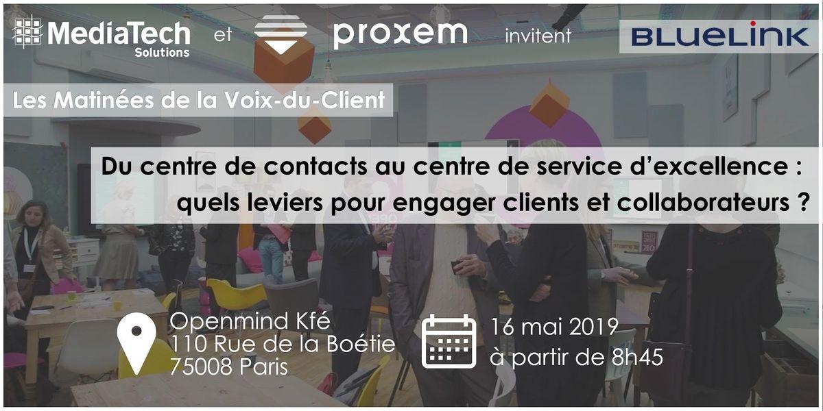 Les Matinée de la Voix-du-Client : BlueLink at OpenMind Kfé Paris