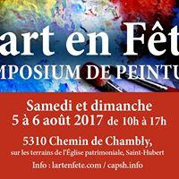 Symposium de Peinture LArt en Fte