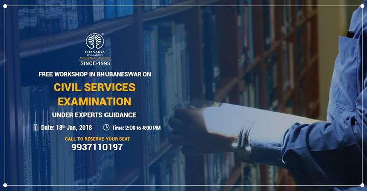 Workshop on Civil Services Examination in Bhubaneswar