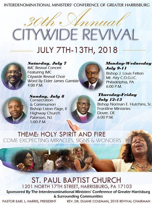 imc 2018 revival at st paul u0026 39 s missionary baptist church