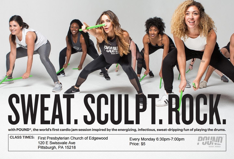 Sweat Sculpt Rock Pound Fitness Class At First Presbyterian