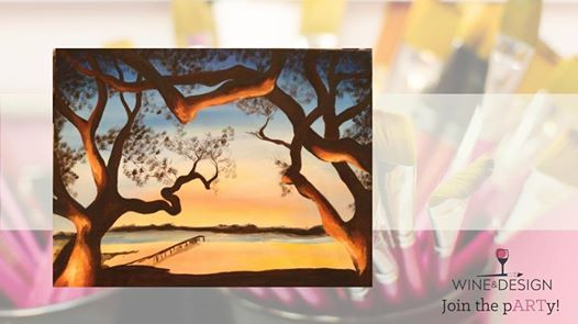 Grove Sunset Byob Painting Class At Wine Design Greenville Sc