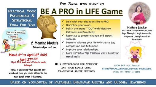 Practical Yogic Psychology & Situational Yoga For You