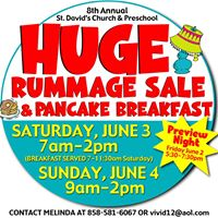 Preview Night Rummage Sale buy tickets in advance or at door.