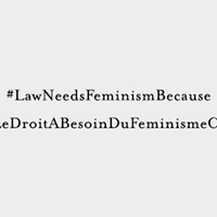 Law Needs Feminism Because  McGill Law Student Photoshoot