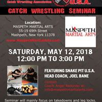 CATCH WRESTLING SEMINAR QUEENS NY WITH SNAKE PIT U.S.A.