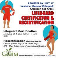 Lifeguard Certification &amp Recertification Class