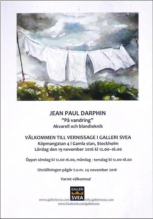 Vernissage - Jean Paul Darphin. P vandring
