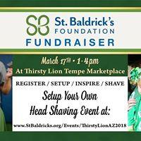 St. Baldricks Fundraiser Head Shaving Event