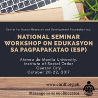 National Seminar Workshop on Edukasyon sa Pagpapakatao (EsP)