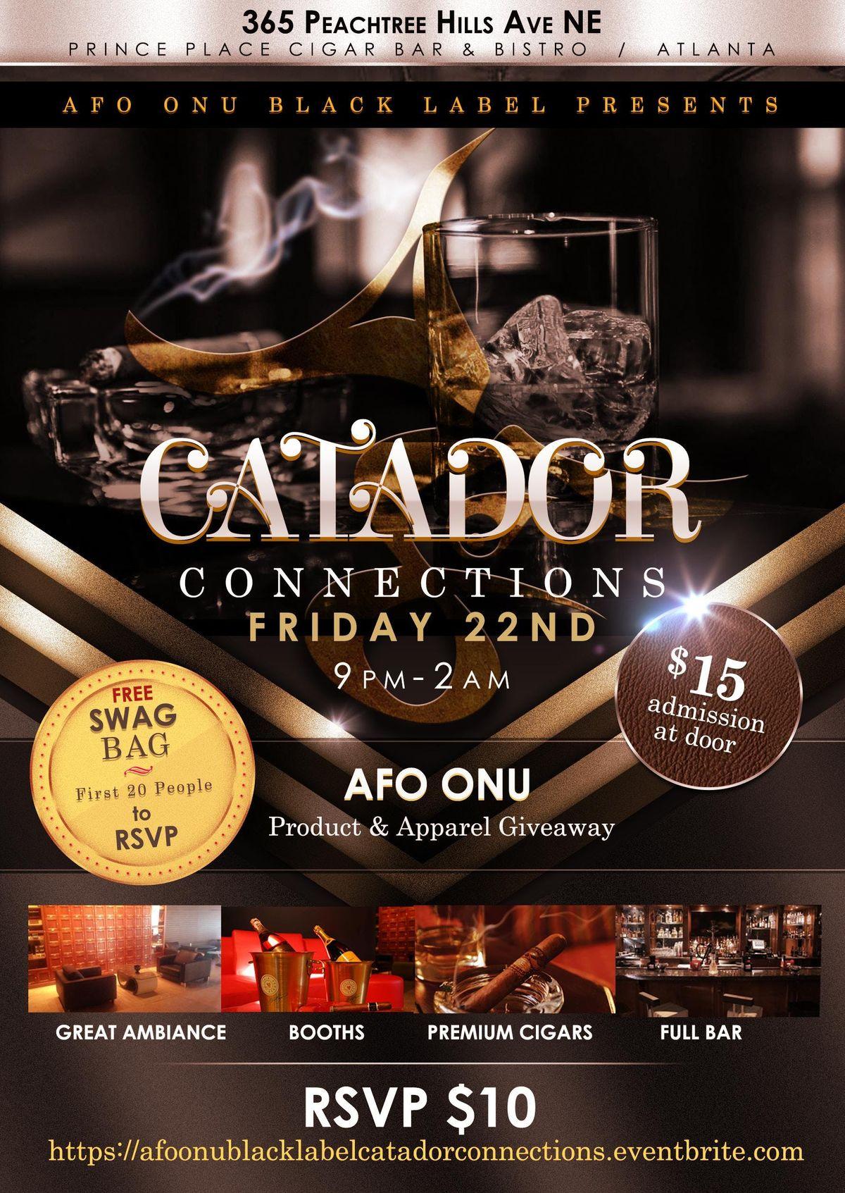 AfOnu(TheBlackLabel)CATADOR CONNECTIONS Social Mixer