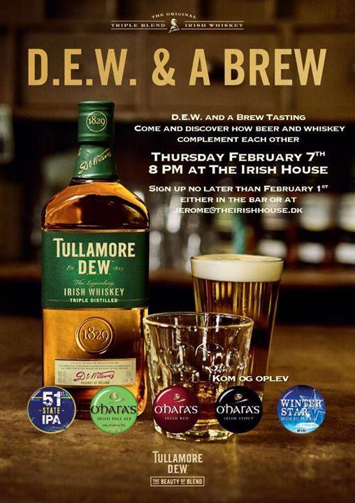Tullamore Dew & OHaras Beer Tasting
