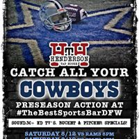 Cowboys Preseason Watch Parties at Thebestsportsbardfw