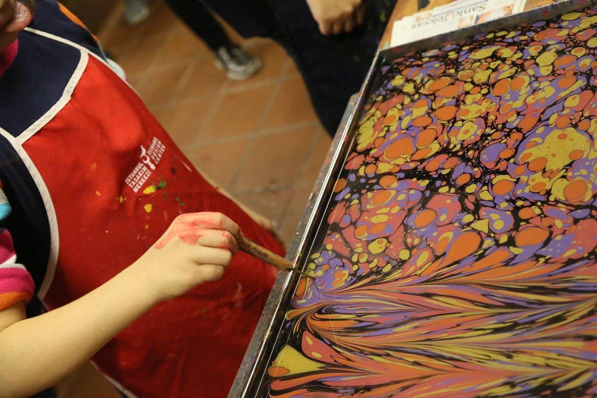 One Day Ebru Art Workshop for Children (not free)