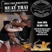 MMA Cage Wrestling and Muay Thai With Ajarn Buck Grant
