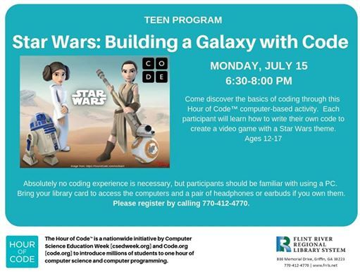 Building a Galaxy with Code: Teen Program at Griffin