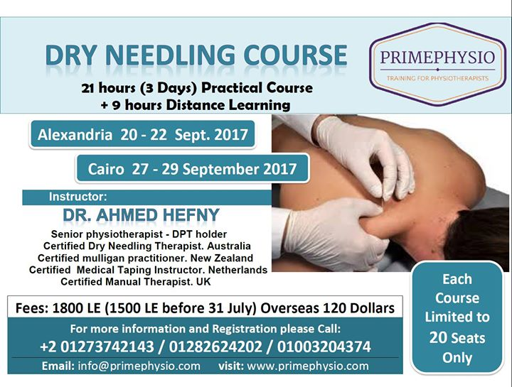 Dry Needling / Sept 2017 / Cairo / Alex. Egypt / Primephysio at ...