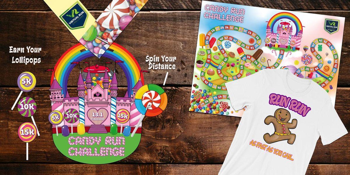 Candy RunWalk Challenge (5k 10k 15k and Half Marathon) - Aurora