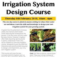 Irrigation System Design Course