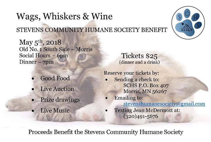 Wags Whiskers & Wine Fundraiser Dinner