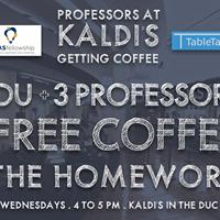Professors at Kaldis Getting Coffee