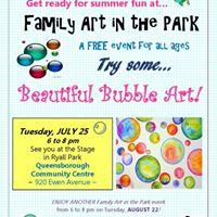 Family Art in the Park Beautiful Bubble Art