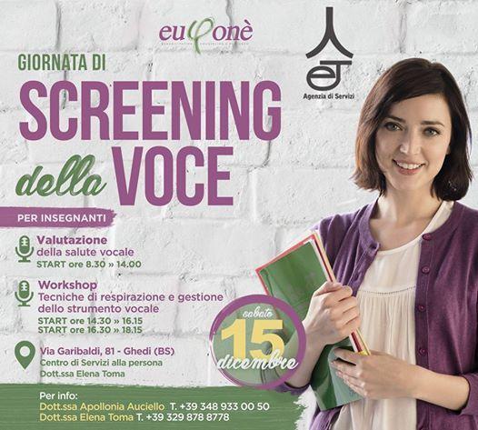 Giornata di Screening della voce(valutazione e laboratorio)