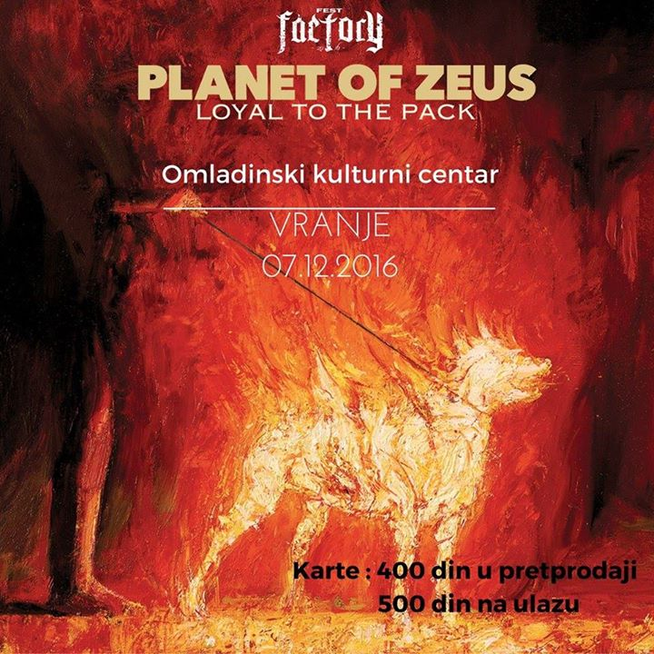 "Planet of Zeus na ""Factory Festu"" u Vranju"
