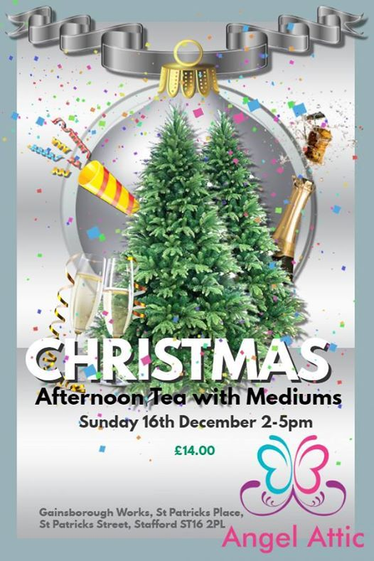 Christmas Afternoon Tea with Mediums on Sunday 16th December