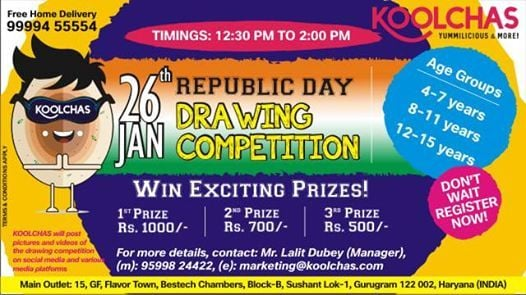 Drawing and Painting competition for kiddos this Republic Day