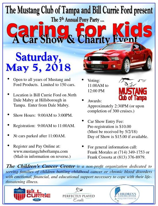 Caring For Kids Car Show And Charity Event At Bill Currie Ford Tampa